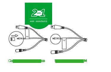 Tecnologia híbrida VM 3120 IR G4 Intelbras