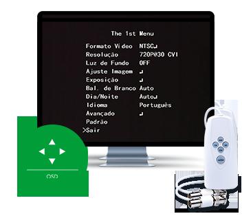 Troca de tecnologias com o VHD Control e Menu OSD da VHD 1010 D G4