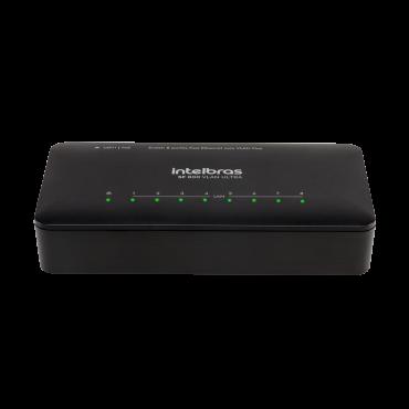 Switch 8 portas Fast Ethernet com VLAN Fixa
