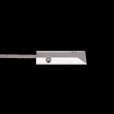 Sensor de abertura para portas de aço Intelbras - parte a ser instalada no chão. Suporta até duas toneladas