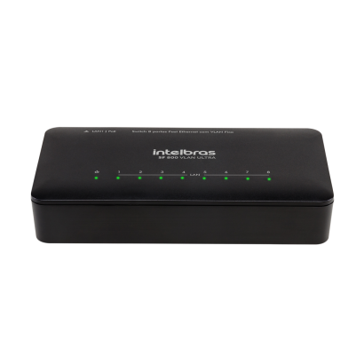 Switch 8 portas Fast Ethernet com VLAN Fixa